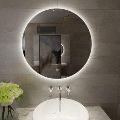 Douche Concurrent Badkamerspiegel Giro Rond 100x100cm Geintegreerde LED Verlichting Touch Schakelaar