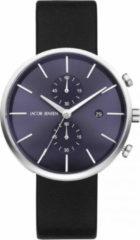 Zilveren Jacob Jensen chronograaf herenhorloge Linear 621