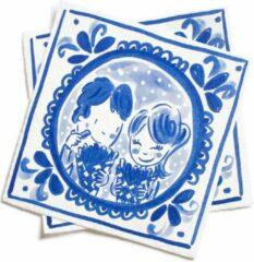 Blauwe Blond Amsterdam - Delfts Blond - Servetten - Set 20 stuks