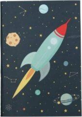 Donkergrijze A Little Lovely Little Lovely Schriften Space Junior 21 Cm Papier 2-delig