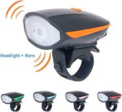 Merkloos / Sans marque Fietsbel met Licht – Multifunctionele Fietsbel - Fietsbel met LED Verlichting – 2 in 1 Fietsbel - Oranje