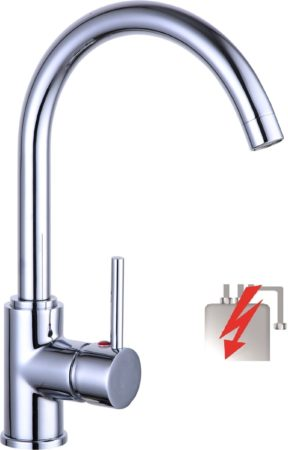 Afbeelding van Schütte SCHÜTTE Casalla Design Keukenkraan voor Waterverwarmer met vrije Uitloop - lage Druk - Mengkraan - Hoge, Draaibare Uitloop - Zijdelingse Greep - Chroom