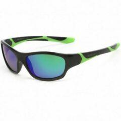KOOLSUN - Sport - Kinder zonnebril - Black Lime - 3-8 jaar - UV400 - Categorie 3