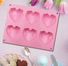 Cabantis Hart bakvorm|Siliconen bakvormen|Siliconen mallen|Bak spullen|Cake vorm|Chocolade cadeau|Chocolade hart|Roze