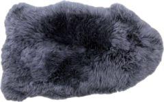 HSM Collection Schapenvacht groot langharig - ±90x60 cm - donkergrijs