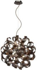 Bruine Lucide Verstelbare Hanglamp Atoma 12-Lichts Ø60 Cm - Metaal Roest Bruin