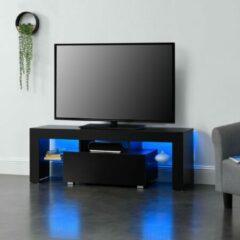En.casa Tv meubel Grimsey met led verlichting 130x35x45 cm zwart