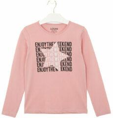 Roze T-shirt Losan 024-1631AL