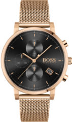 Hugo Boss BOSS HB1513808 INTEGRITY - Polshorloge - Staal - Rosékleurig - Ø 43 mm