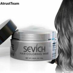 AtrustTeam – Kleur Haar Wax- Haarwax-HaircolorWax – Direct natuurlijke haarkleur, Natuurlijke ingrediënten Wasbaar-Feest wax –Tijdelijke Haarkleur-Carnaval- Moderne look- Haarcrème-Natuurlijke product -Waterbasis –Kleur:licht grijs -Nieuw 2020