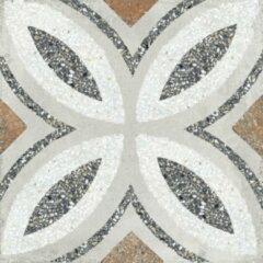 Paul & Co Ceramiche Terrazzo vloertegel 25x25cm gerectificeerd Vintage Casale Firenze grigio Mat SW07310365-4