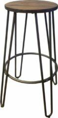 Bronze Lavandoux - Industriële Barkruk - Hoog - Gunmetal