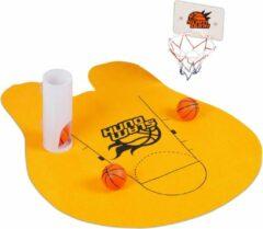 Relaxdays toilet basketbal - wc basketball set - met 3 ballen - mat - mini basketbal set