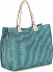 Turquoise Merkloos / Sans marque Shopper van juco