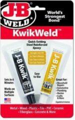 Grijze JB-Weld Kwikweld, snel uithardende Epoxy, vloeibaar staal compleet met navulbare verstuiver-flacon speciale ontvetter!