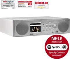 IMPERIAL DABMAN i450 Küchenunterbauradio, Internet- DAB+ & UKW-Radio, Spotify... mattweiß - silber