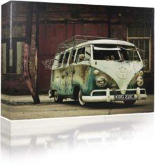 Blauwe Sound Art - Canvas + Bluetooth Speaker VW Camper Van (41 x 51cm)