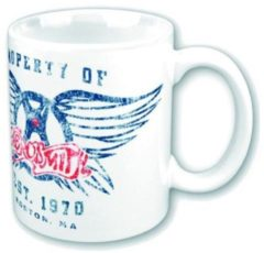 Zwarte Rock Off AEROSMITH - Mug 315 ml - Property of Logo
