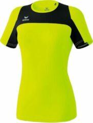Erima Race Line Running T-shirt Dames - Neongeel / Zwart | Maat: 44