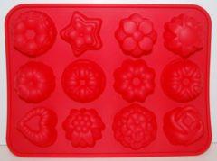 Merkloos / Sans marque EIZOOKSHOP Silicone fruit bloem cake bak ijs vormen | Rood