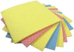 Aqualine vaatdoekjes formaat 18 x 20 cm geassorteerde kleuren pak van 5 stuks