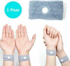 Grijze ProductGoods - 1 Paar Anti Wagenziek Bandjes - Anti Misselijkheid Band - Anti Misselijkheid Band - Anti Stoom Armband - Anti Misselijkheid Armband
