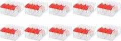Merkloos / Sans marque Lasklem Slim Set 10 Stuks - 3 Polig met Klemmetjes - Rood