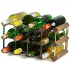 Bruine Traditional Wine Rack Co. Wijnrek 12 flessen