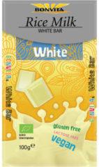 Bonvita Rijstmelk Chocolade Wit Bio (100g)