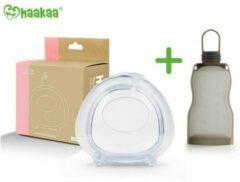 Transparante Elke druppel telt pakket | Haakaa Ladybug 75cl + Haakaa Silicone Bewaarzakken 260ml