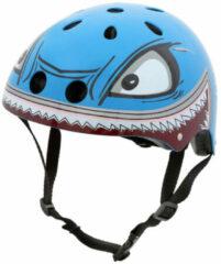 Blauwe Mini Hornit Lids Fietshelm Voor Kinderen - Met Led Achterlicht - Hammerhead (M)