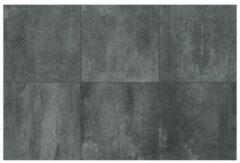 Floorgres Rawtech Vloertegel 60x60cm 10mm vorstbestendig gerectificeerd Coal Mat 1315824