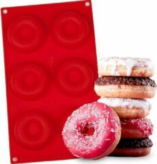 TrendX® Siliconen Donut Vorm / Donut Bakvorm Bakblik – Rood