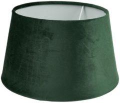 Xenos Lampenkap velvet - groen - ø33 cm