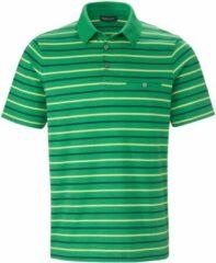 Poloshirt 100% katoen streepdessin Van Louis Sayn groen