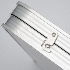 Grijze AMANKA Opvouwbare stabiele kampeertafel 120x60x70cm in hoogte verstelbare draagbare koffer maat aluminiu...