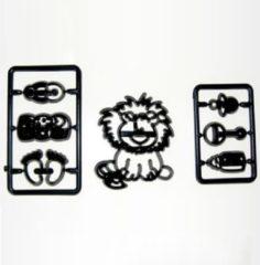 Zwarte PatchworkCutter Patchwork Cutter Baby Lion & Nursery