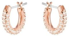 Swarovski Stone Pierced Earrings, Small, Pink, Rose gold plating Pink Rose gold-plated