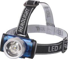 Qualu LED Hoofdlamp - Igia Scylo - Waterdicht - 50 Meter - Kantelbaar - 1 LED - 1.6W - Zwart | Vervangt 7W