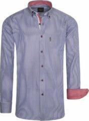Marineblauwe cappuccino italia heren overhemden fit overhemd navy striped blauw