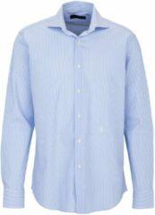 Blauwe Trussardi Heren Overhemd Maat L