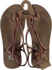 Xq footwear teenslippers sandal dames polyester koper maat