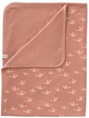Roze Fresk baby wiegdeken Birds 80x100 cm