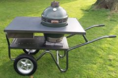 Barbecue tafel groen Egg | Black Bastard | Kamado Joe | Buitenkeuken | Tafel Keramische barbecue| Antraciet grijswerkblad| Rielse Reuzen