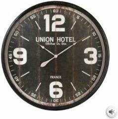 Zwarte Modernklokken.nl Retro Klok met Grote Cijfers 90 cm