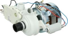 Indesit, Ariston, Hotpoint, Scholtes Umwälzpumpe 60W 240V (mit Drehschieber und 4µF Kondensator) Geschirrspüler 115902, C00115902