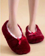 Sorprese cosy – pantoffels dames – rood – maat 39-41 – sloffen dames