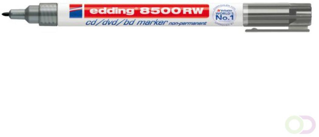 Afbeelding van Cd marker edding 8500 rond zwart 1.0mm