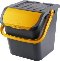 Zwarte De  Bries Malpie afvalbak - afvalemmer - geel - afvalscheiden glas - papier