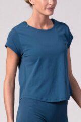 Blauwe REVIVE Sportswear REVIVE Seamless Sport - Yoga Shirt FAFE - licht gewicht - duurzaam